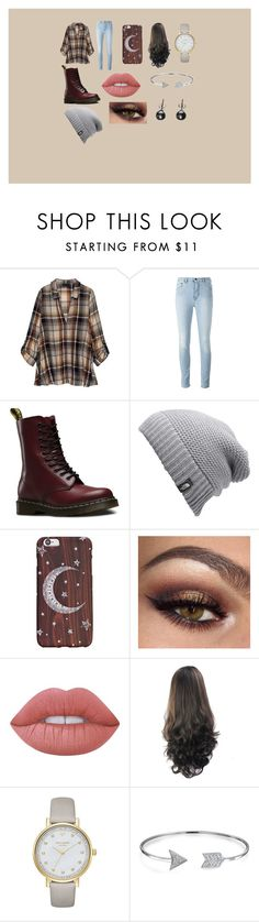 """""""Winter Break"""" by someone-is-there on Polyvore featuring Bobeau, Dr. Martens, The North Face, Lime Crime, Kate Spade, Bling Jewelry and Black"""