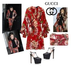 """""""inspired by harry styles: gucci total look"""" by maryanacoolstyles ❤ liked on Polyvore featuring Gucci"""
