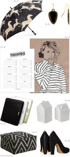 Color Crush: Black, White &Gold - Home - Creature Comforts - daily inspiration, style, diy projects + freebies