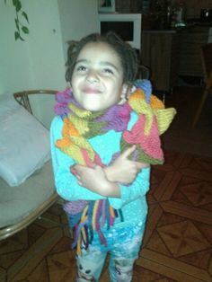my rainbow dino scarf