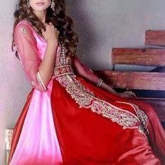 Beautiful color combination of pink and red by @ultrachic.hautecouture 🎀 . .  #Elegant #caftan #style #silver #lace #royal #diamonds . #love it for a #bridal #wedding #opulent #luxury #elegance #bride #dress  #fashion #kaftan #couture #fabulous #style #luxury 🎀 فاشن# #قفطان #موضه 🎀 #morocco #ksa #dubai #abudhabi #usa #uae #kuwait #bahrain #qatar