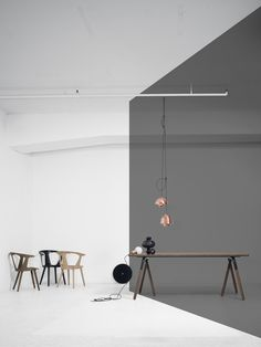Andtradition #Flowerpot and Utzon lamp in copper