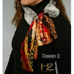 Scarf with fur,fw 2017 Instagram@zhistanbul official