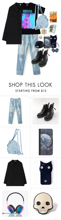 """""""smells like teen spirit"""" by nehisoda ❤ liked on Polyvore featuring MANU Atelier, Casetify, Valfré, Frends, PINTRILL, Nintendo and NIKE"""