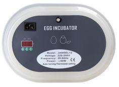 Digital Automatic Poutry Egg Incubaor 12 Eggs Duck Chicken Goose Quail Eggs Incubator