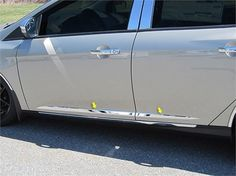 Nice Great Fits 2015-2016  FORD FOCUS 4-door ()-Stainless Steel MOLDING INSERT 2017 2018