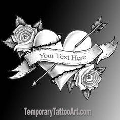 Create Temporary Tattoo - add text to fake tattoos Custom Temporary Tattoos, Custom Tattoo, Temporary Tattoo Sleeves, Sleeve Tattoos, Tribal Heart Tattoos, Free Tattoo Designs, Create Your Own Tattoo, Temp Tattoo, One Design