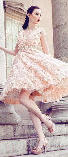 Beautiful Peach Dress