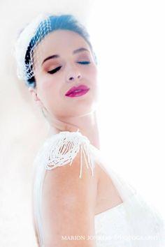 French lace beaded wedding dress with chiffon  skirt by ALEKS BRIDAL