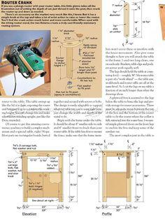 Tilt Top Router Table Plans - Router