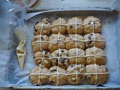 Softest Bakery Style Hot Cross Buns @ Not Quite Nigella