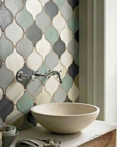 Forecast: Tile Trends for 2014 and Beyond Style Forecast: Tile Trends for 2014 and Beyond. A mix of colored Arabesque tiles from Fired Earth,Style Forecast: Tile Trends for 2014 and Beyond. A mix of colored Arabesque tiles from Fired Earth, Bad Inspiration, Bathroom Inspiration, Moroccan Bathroom, Bathroom Green, Moroccan Tiles Kitchen, Moroccan Room, Cream Bathroom, Moroccan Interiors, Moroccan Tile Backsplash