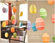 Paint chip easter egg decor