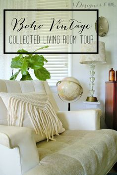 i love the way this space is decorated! vintage bohemian- swoon!