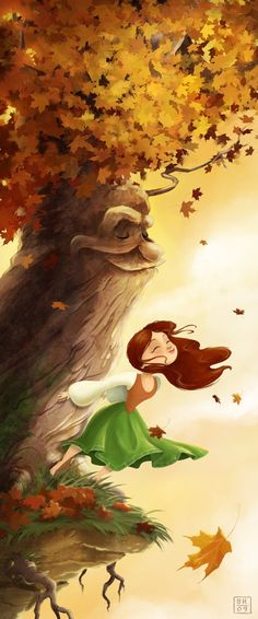 Princess of the Trees  Large 13x19 Art Print by flimflammery, $25.00
