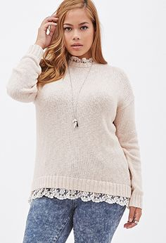 Lace Trimmed Sweater | FOREVER 21 - 2000099376
