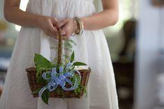Precious flower girl basket!