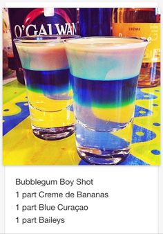 Bubblegum Boy shot # tipsy Bartender