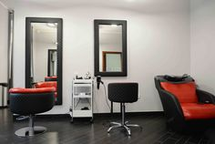 Hair salon- STUDIO WIKTORIA POLAND REFLECTION STYLING chairs and bespoke units by AYALA salon furniture. Glamour salon design. #Salonideas #salonchairs #Unusualdesign