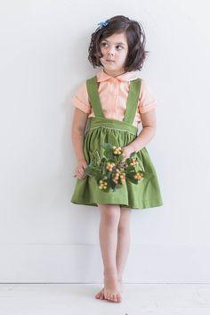 arabella peter pan collar stripe lawn top {peach} by @MrsGordon for Sadie then Ty