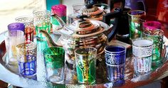 Middle Eastern Tea Glasses | Moroccan tea glasses at the White Dragon Tea Room, 820 Main Ave., are ..