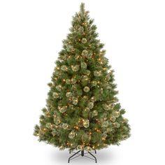 National Tree WOG1-308-75 7 1/2' Wispy Willow Grande Medium Hinged Tree with 750 Clear Lights