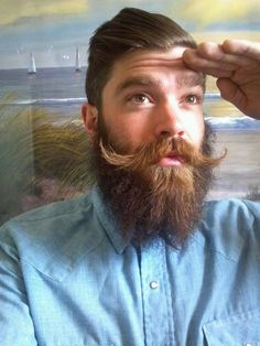 That's the way Perfect Beard, Beard Love, Beard Images, Beard Pictures, Sideburns, Great Beards, Hair Tattoos, Beard Tattoo, Beard No Mustache