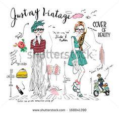 story board illustration fashion girl - stock vector id 168041390