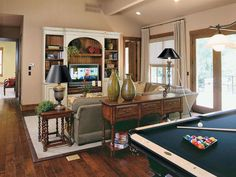 It's Possible To Have A Formal Living Room With A Pool Table Simple Pool Table Living Room Design Decorating Design