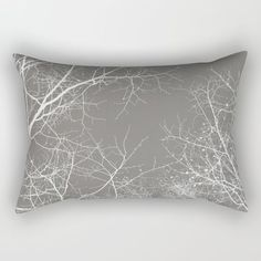 "Branches Impressions I Rectangular Pillow by ARTbyJWP From Society6 #pillow #throwpillow #cushion #gray #minimalist #homedecor -   Our Rectangular Pillow is the ultimate decorative accent to any room. Made from 100% spun polyester poplin fabric, these ""lumbar"" pillows feature a double-sided print and are finished with a concealed zipper for an ideal contemporary look. Includes faux down insert. Available in small, medium, large and x-large."