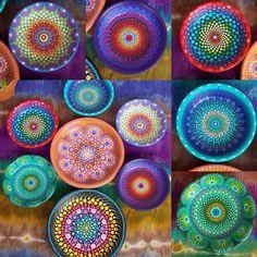 Dot Mandala Small Dish Hand Painted by Kaila Lance