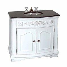 37â Bathroom Vanity Marble Sink Travertine Counterop | Renovator's Supply