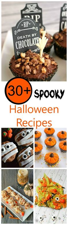 These 30+ spooky Halloween Recipes are whimsical and fun to make. The kids will love them. #halloween #partytime