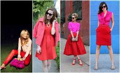 Moda 2013: rosa combina com vermelho?