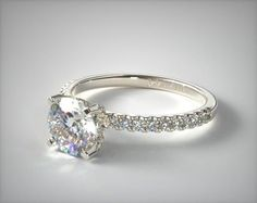 53023 engagement rings, pave, platinum pave basket diamond engagement ring item - Mobile