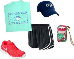 """a day at the gym"" by southern-prep ❤ liked on Polyvore"