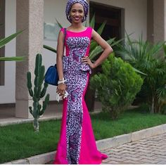 Gorgeous Ankara African print with chiffon