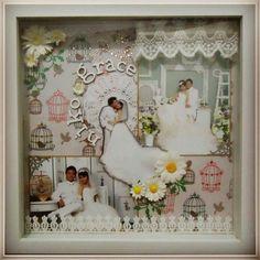 DIY wedding idea for gift or token scrap frame..