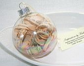 Piccole donne Ornament - Louisa May Allcot - Shabby Chic Pagine Prenota Vintage in Bulbo di vetro per Matrimonio Natale Decor