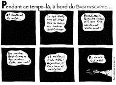 Publié dans Le Bathyscaphe n°6, Québec, 2010. Strip n°1.