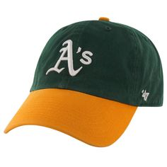new style 5f59c c36e2 Oakland Athletics Clean Up Dad Hat -  47 Brand Green Gold