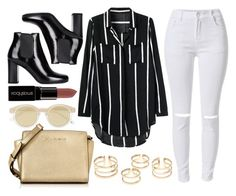 """""""better not say it"""" by carolsx ❤ liked on Polyvore featuring Yves Saint Laurent, Le Specs, Michael Kors, Smashbox, women's clothing, women's fashion, women, female, woman and misses"""