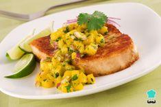 Aprende a preparar filetes de pescado con mango con esta rica y fácil receta. Marinar con el aceite, el zumo de limón y la pimienta durante 10 minutos, los filetes d...