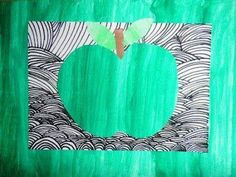 What does the orchard give? - Obst - What does the orchard give? Food Crafts, Diy And Crafts, Crafts For Kids, Arts And Crafts, Projects For Kids, Art Projects, Apple Art, Art Club, Mail Art