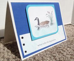 Blank Greeting Card Goose Greeting Card by WhiteFamilyCrafts