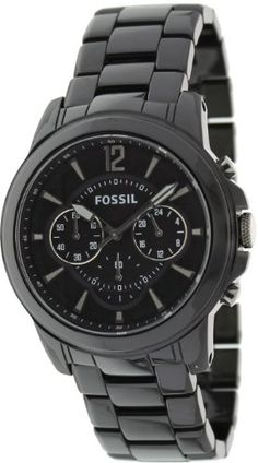 fossil watches for women Fossil Watches For Men, Wrist Watches, Casio Watch, Chronograph, Ceramics, Stuff To Buy, Accessories, Black, Amazon