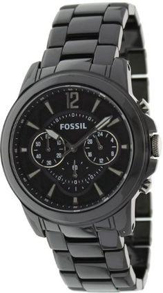 5546df5b849 Fossil Grant Ceramic Watch – Black.44mm Case Diameter. 50 Meters   165 Feet    5 ATM Water Resistant.