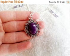 XMAS SALE black friday Beautiful gothic style chocker collar necklace silver violet purple glass beads jade gift for her Jade Pendant, Purple Glass, Chocker, Collar Necklace, Gothic Fashion, Glass Beads, Gifts For Her, Gemstone Rings, Jewelry Making