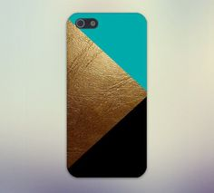 Gold Leather x Black Turquoise Design Case