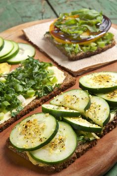 Heart Healthy Cucumber and Kale Open-Faced Sandwiches | Tastebook Blog